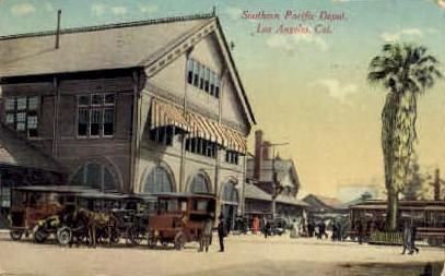 Southern Pacific Depot - Los Angeles, California CA Postcard
