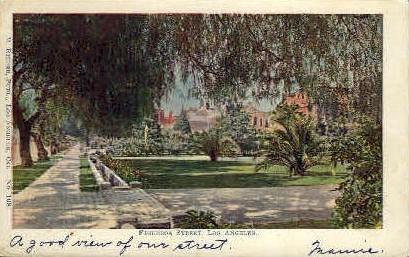 Figueroa St. - Los Angeles, California CA Postcard