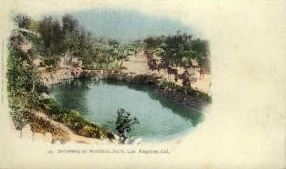 Driveway at Westlake Park - Los Angeles, California CA Postcard