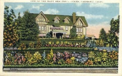 A Home - Piedmont, California CA Postcard