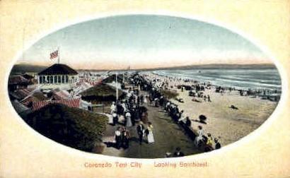 Coronado Tent City - Coronado Beach, California CA Postcard