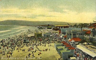 Band Stand - Long Beach, California CA Postcard