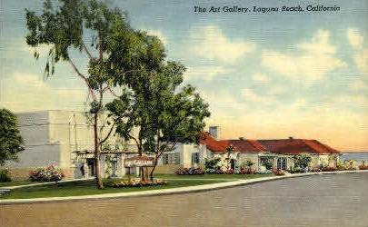 The Art Gallery - Laguna Beach, California CA Postcard