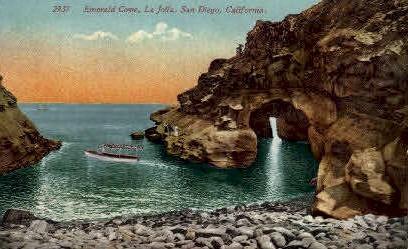 Emerald Cove - San Diego, California CA Postcard