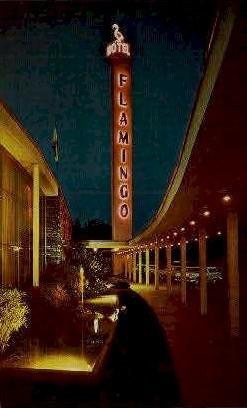 Flamingo Hotel - Santa Rosa, California CA Postcard