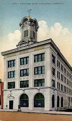 Santa Rosa Bank - California CA Postcard