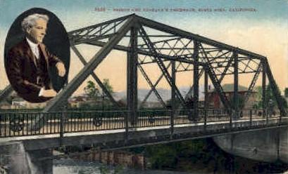 Bridge & Burbank's Residence - Santa Rosa, California CA Postcard