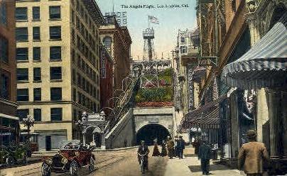 The Angels Flight - Los Angeles, California CA Postcard