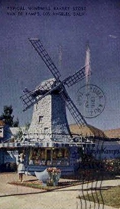 Windmill Bakery Store - Los Angeles, California CA Postcard