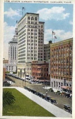 14th St. - Oakland, California CA Postcard