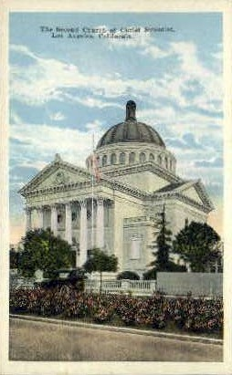 The Second Church of Christ Scientist - Los Angeles, California CA Postcard