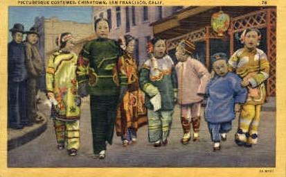 Costumes, Chinatown - San Francisco, California CA Postcard