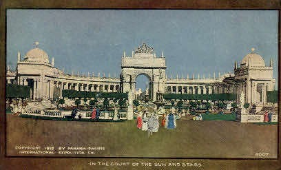 In the Court of the Sun & Stars - San Francisco, California CA Postcard