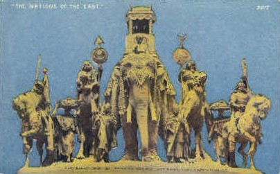 The Nations of the East - San Francisco, California CA Postcard