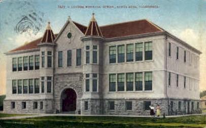 Lutehr Burbank School - Santa Rosa, California CA Postcard