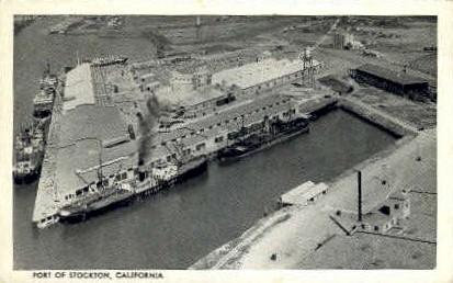 Port of Stockton - California CA Postcard