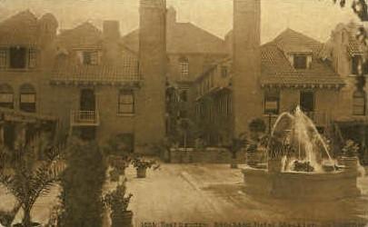 Roof Garden, Stockton Hotel - California CA Postcard