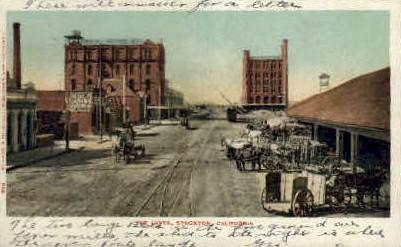 The Levee - Stockton, California CA Postcard