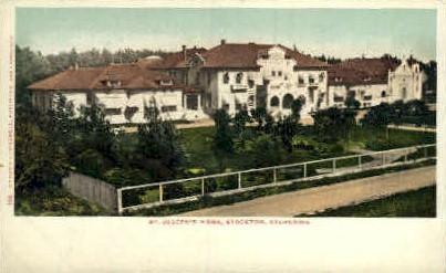 St. Joseph's Home - Stockton, California CA Postcard