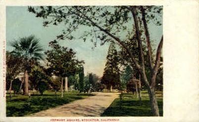 Fremont Square - Stockton, California CA Postcard