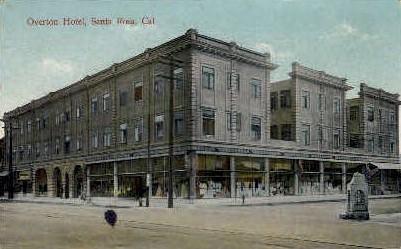 Real Photo, Overton Hotel - Santa Rosa, California CA Postcard