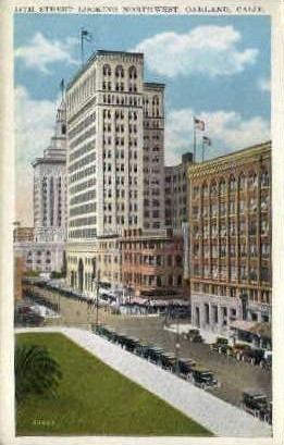 14th St.  - Oakland, California CA Postcard