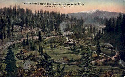 Cantra Loop - Shasta, California CA Postcard