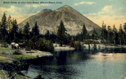 Black Butte - Shasta, California CA Postcard