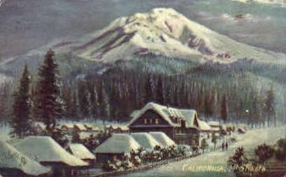 Mount Shasta - California CA Postcard