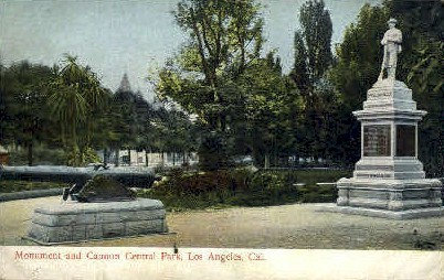Central Park - Los Angeles, California CA Postcard