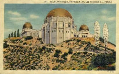 The Planetarium, Griffith Park  - Los Angeles, California CA Postcard