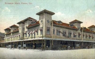Patterson Block - Fresno, California CA Postcard