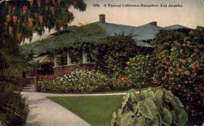 Bungalow - Los Angeles, California CA Postcard