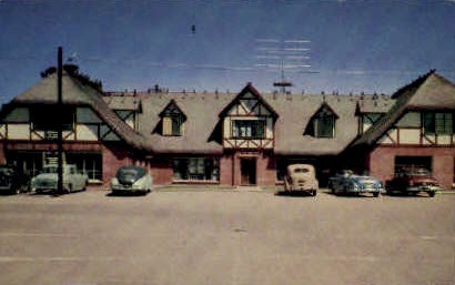 Paaske Building  - Solvang, California CA Postcard