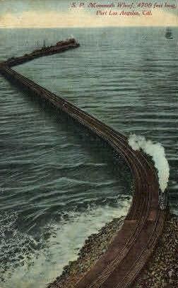 S.P. Mammoth Wharf - Los Angeles, California CA Postcard