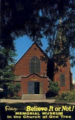 Church Built of One Tree - Santa Rosa, California CA Postcard