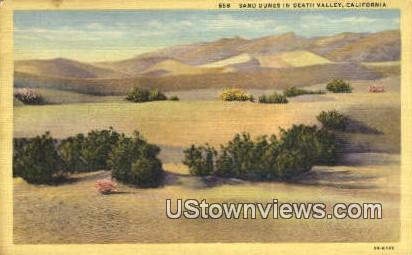 Sand Dunes - Death Valley, California CA Postcard