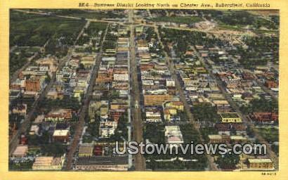 Business District - Bakersfield, California CA Postcard