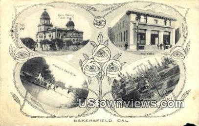 Kern River - Bakersfield, California CA Postcard