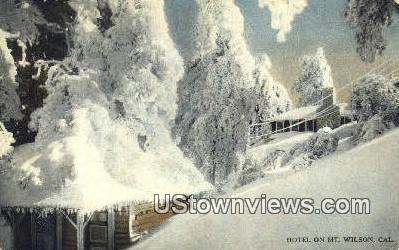 Hotel - Mt. Wilson, California CA Postcard