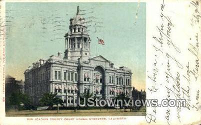 San Joaquin County Court House - Stockton, California CA Postcard