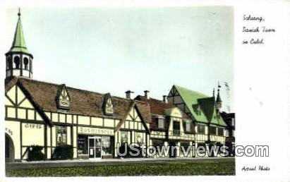 Danish Town - Solvang, California CA Postcard