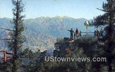 Echo Rock - Mt. Wilson, California CA Postcard