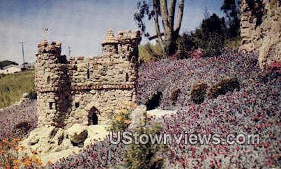 Model Danish Castle - Solvang, California CA Postcard