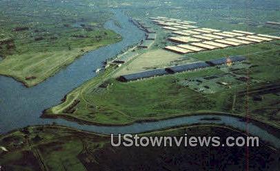 Naval Supply Annex - Stockton, California CA Postcard