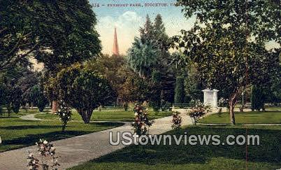 Fremont Park - Stockton, California CA Postcard