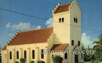 Danish Lutheran Church - Solvang, California CA Postcard