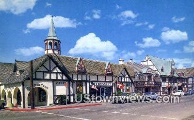Copenhagen Drive - Solvang, California CA Postcard