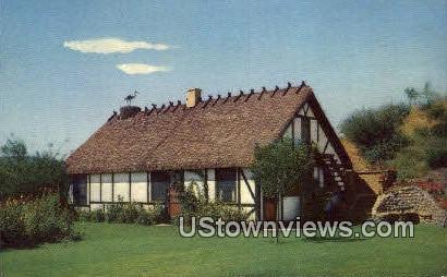 Danish House - Solvang, California CA Postcard