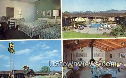 Rustic Luxury Motel - Santa Rosa, California CA Postcard